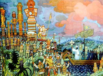 "Vasilij Ignatov,         ""La mission de saint Etienne de Perm"", 1981."